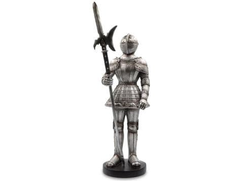 knight in shining armour ornament | suit of armour standing figure